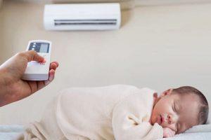 ¿Es malo el aire acondicionado para los bebés?